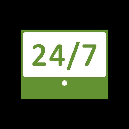 Leistung Notfallhilfe 24/7 Icon für Internetauftritt bei boerde-design
