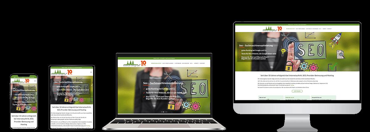 Start responsives Design Webdesign Programmierung SEO boerde-design
